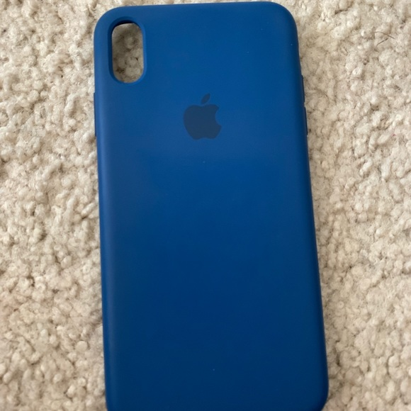 new styles f76d1 9a812 Apple iPhone XS Max silicone case / blue horizon